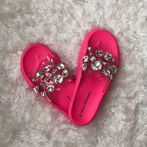 Neon Pink Slides